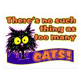 TOO MANY CATS POSTCARD