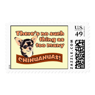 """Too Many Chihuahuas"" Postage"
