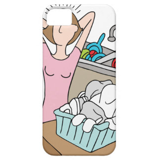 Too Many Chores Woman iPhone SE/5/5s Case