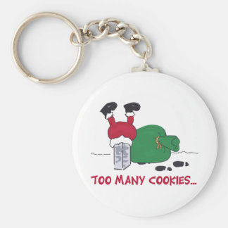 Too Many Cookies Basic Round Button Keychain