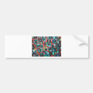 Too Many Curves abstract cityscape Bumper Stickers