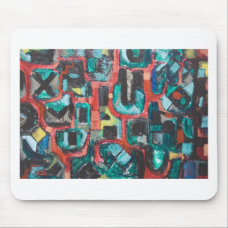 Too Many Curves (abstract cityscape) Mouse Pad