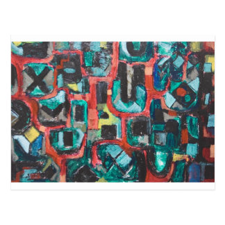 Too Many Curves (abstract cityscape) Postcard