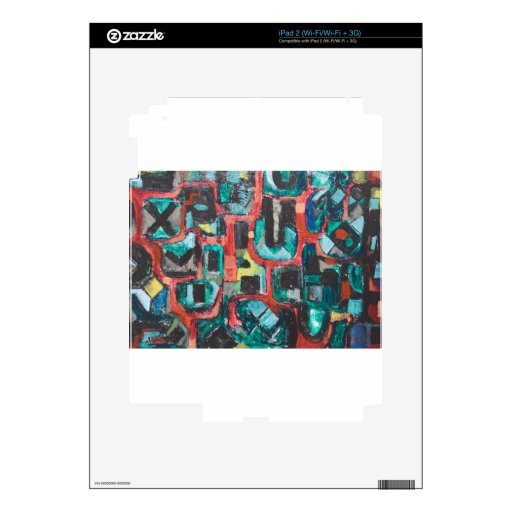 Too Many Curves (abstract cityscape) Skins For iPad 2