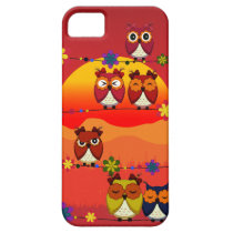 Too Many Cute Owls iPhone SE/5/5s Case