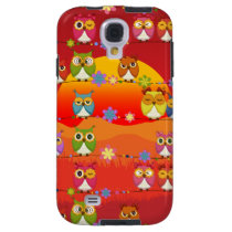 Too Many Cute Owls  Samsung Galaxy S4 Case