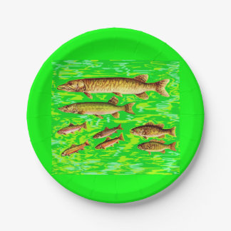 too many fish in the sea paper plate