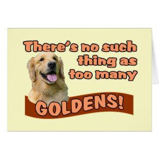 """Too many Golden Retrievers"" Card"
