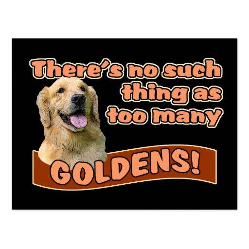 """Too many Golden Retrievers"" Post Card"
