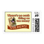 """""""Too many Golden Retrievers"""" Stamps"""