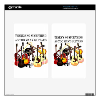 Too Many Guitars Skin For Kindle Fire