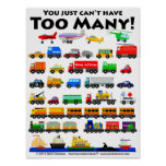 Too Many! Posters