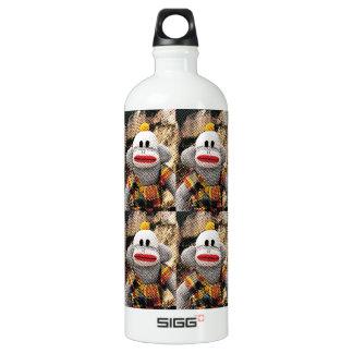 Too Many SockMonkeys Water Bottle