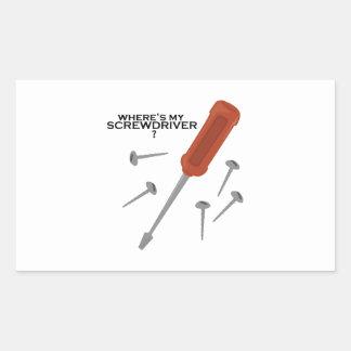 Too Many Tools Rectangular Stickers