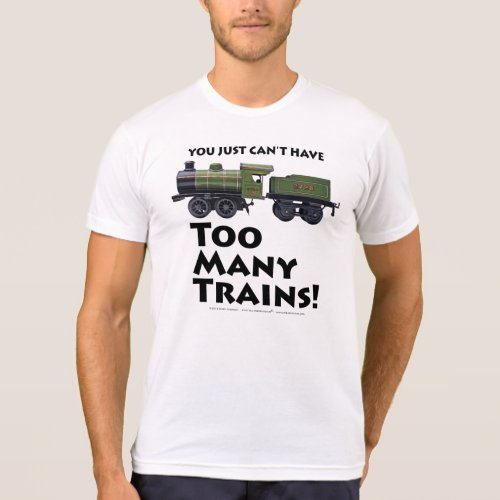 Too Many Trains Antique Black Type T_Shirt