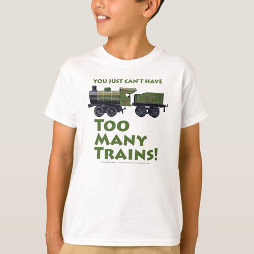 Too Many Trains Antique T_Shirt