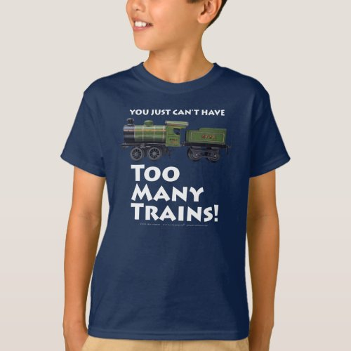 Too Many Trains Antique White Type T_Shirt