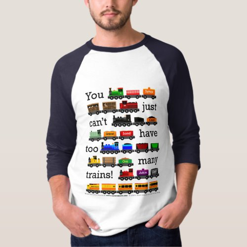 Too Many Trains Jersey T_Shirt