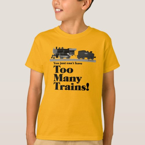 Too Many Trains Locomotive T_Shirt