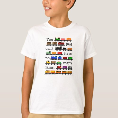 Too Many Trains T_Shirt
