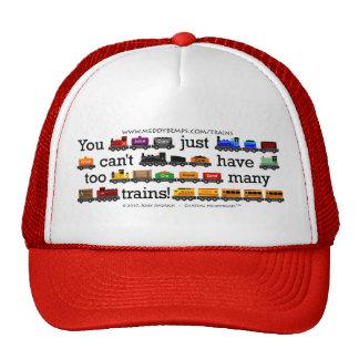 Too Many Trains Trucker Hats