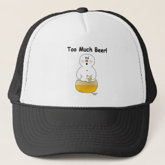 Too Much Beer Snowman Hat