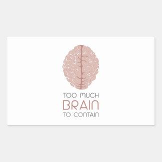 Too Much Brain To Contain Rectangular Sticker