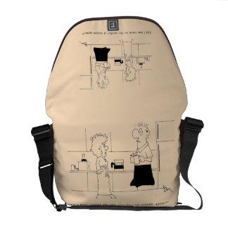 Too Much Coffee Courier Bag