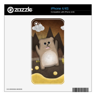 Too much honey to Bear Decal For iPhone 4