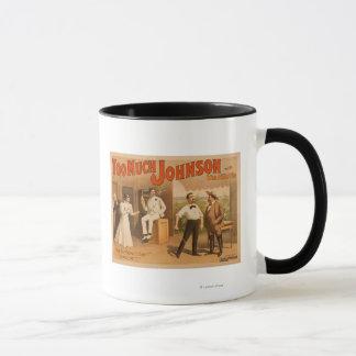 """Too much Johnson"" - Two Men Fighting Theatre Mug"