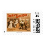"""""""Too much Johnson"""" - Two Men Fighting Theatre Stamps"""