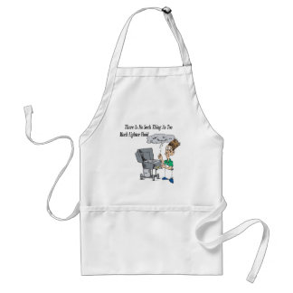 Too much lighter fluid adult apron