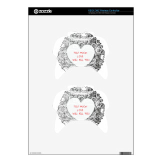 Too Much  Love  Will Kill You Xbox 360 Controller Skin