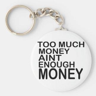 Too Much Money Aint Enough Money .. -- Apparel Basic Round Button Keychain