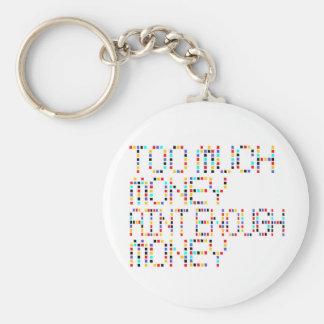 Too Much Money Aint Enough Money .. -- T-Shirt Basic Round Button Keychain