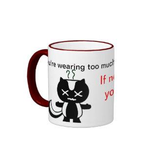 Too much perfume ringer mug