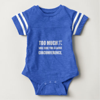 Too Much Pi Symbol Circumference Baby Bodysuit