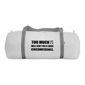 Too Much Pi Symbol Circumference Duffle Bag