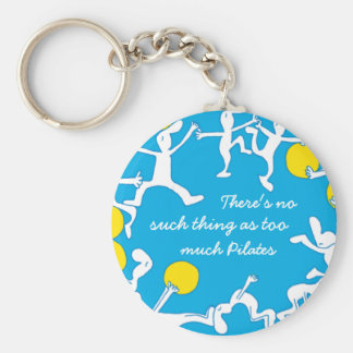 Too much Pilates keychain, blue