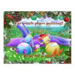 Too much plum pudding! custom invites
