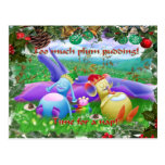 Too much plum pudding! post card
