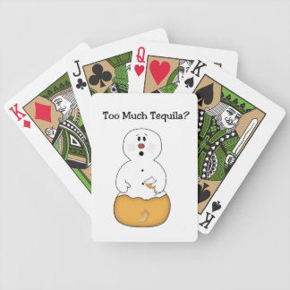 Too Much Tequila Playing Cards