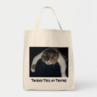Too Much Trick-or-Treating! Tote Bag