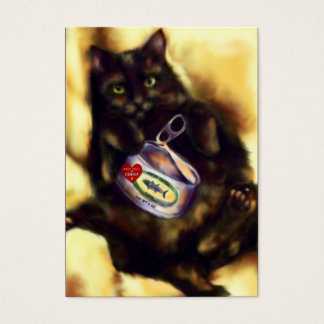 Too Much Tuna (cat) ACEO Art Trading Cards