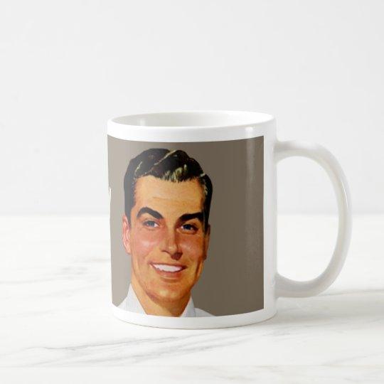 too pretty to work guy - tan coffee mug