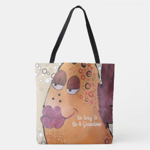 Too Y To Be A Grandma Flirty Fun Fish Tote Bag