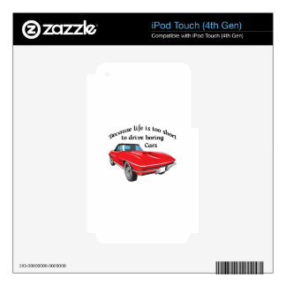 TOO SHORT TO DRIVE BORING CARS iPod TOUCH 4G SKIN