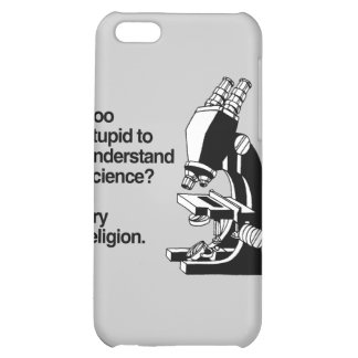 TOO STUPID TO UNDERSTAND SCIENCE - png iPhone 5C Cases