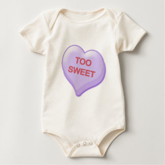 Too Sweet Candy Heart Baby Bodysuit