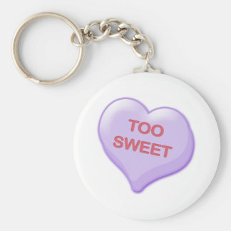 Too Sweet Candy Heart Keychains